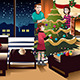 Family Decorating Christmas Tree - GraphicRiver Item for Sale