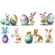 Easter Eggs with Playful Bunnies - GraphicRiver Item for Sale