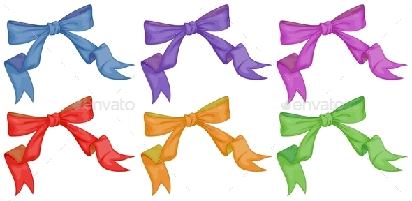GraphicRiver Colourful Bows 9269237