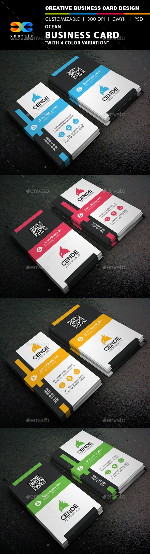 GraphicRiver Ocean Business Card 9269377