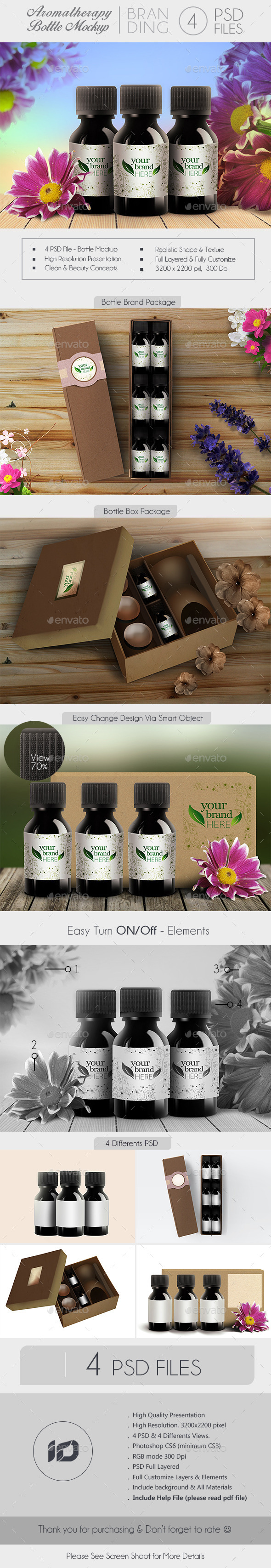 GraphicRiver Aromatherapy Bottle Branding Mock-Up 9225444