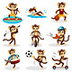 Monkey doing Activity - GraphicRiver Item for Sale