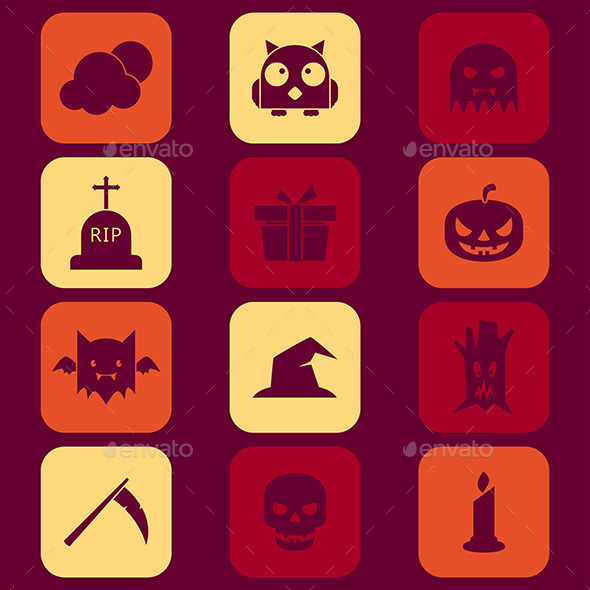 GraphicRiver Halloween Icons 9269462