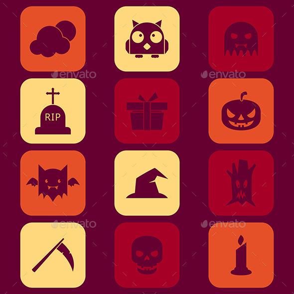 GraphicRiver Halloween Icons 9269462