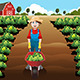 Boy working in a Vegetable Farm - GraphicRiver Item for Sale
