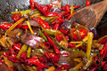 fried chili pepper and vegetable on a wok pan - PhotoDune Item for Sale