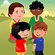 Kids Playing Together - GraphicRiver Item for Sale