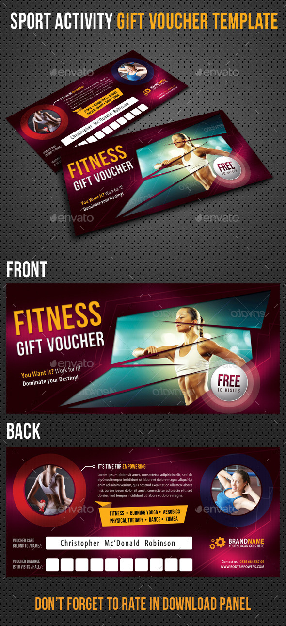 GraphicRiver Sport Activity Gift Voucher 01 9222295