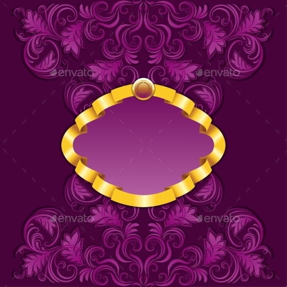 GraphicRiver Frame with Damask Ornament 9269684