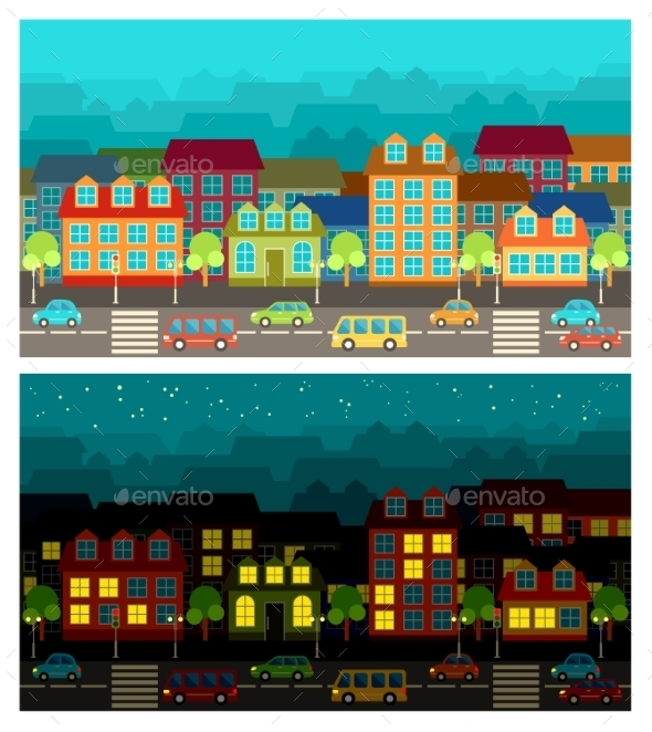 GraphicRiver City in the Style of Flat Design 9269691