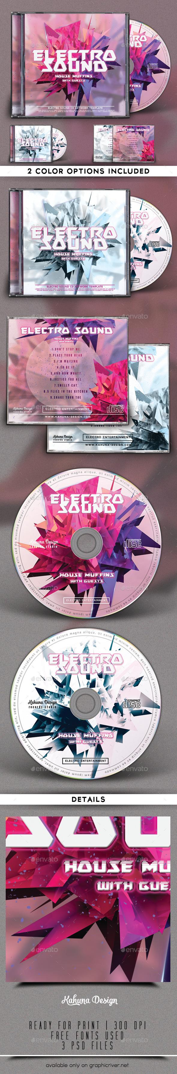 GraphicRiver Electro Sound CD Artwork 9269925