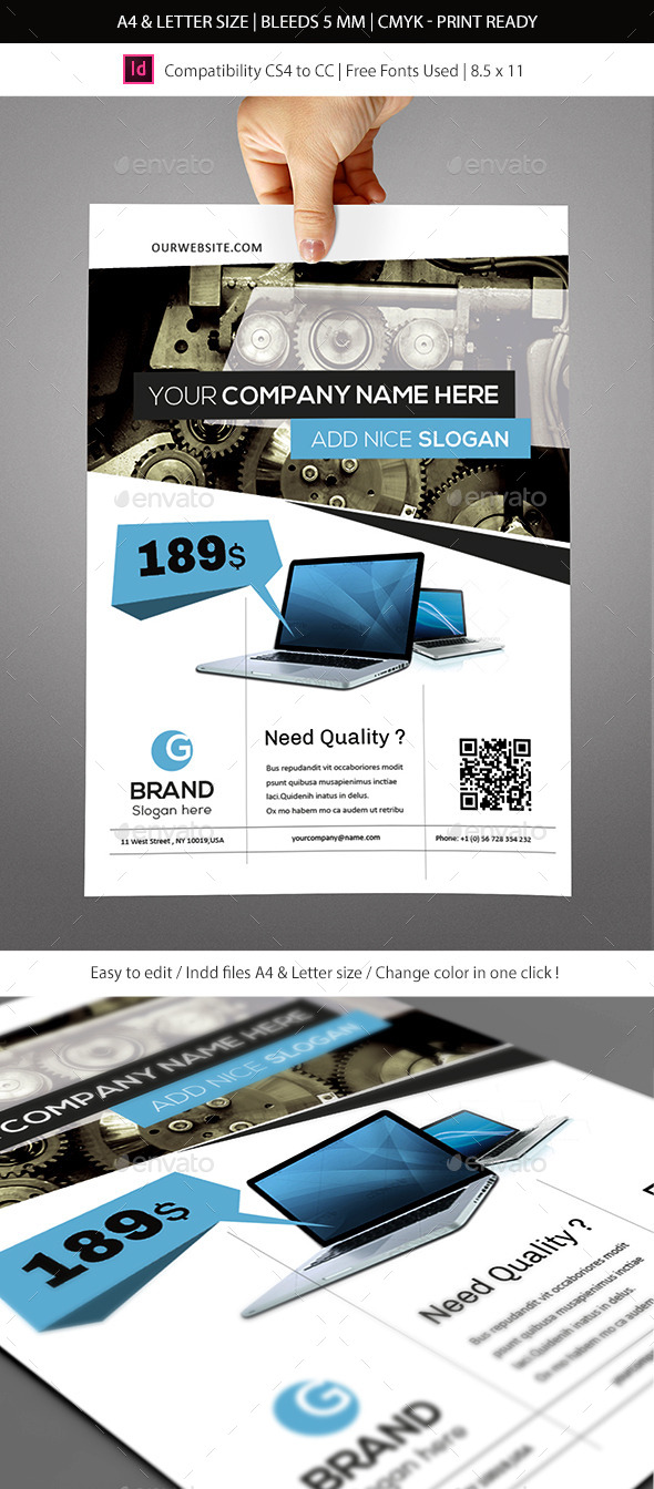 GraphicRiver Corporate & Business Commerce Flyer Template 9270115