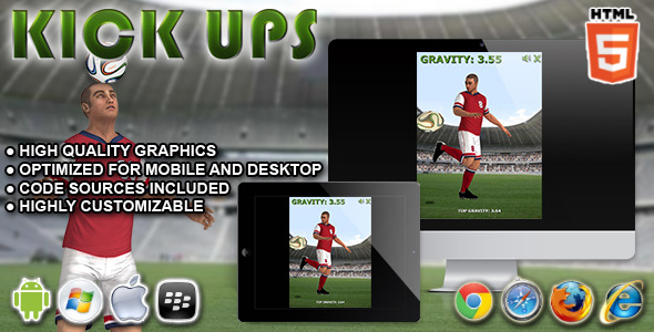 CodeCanyon Kickups HTML5 Game 9270116
