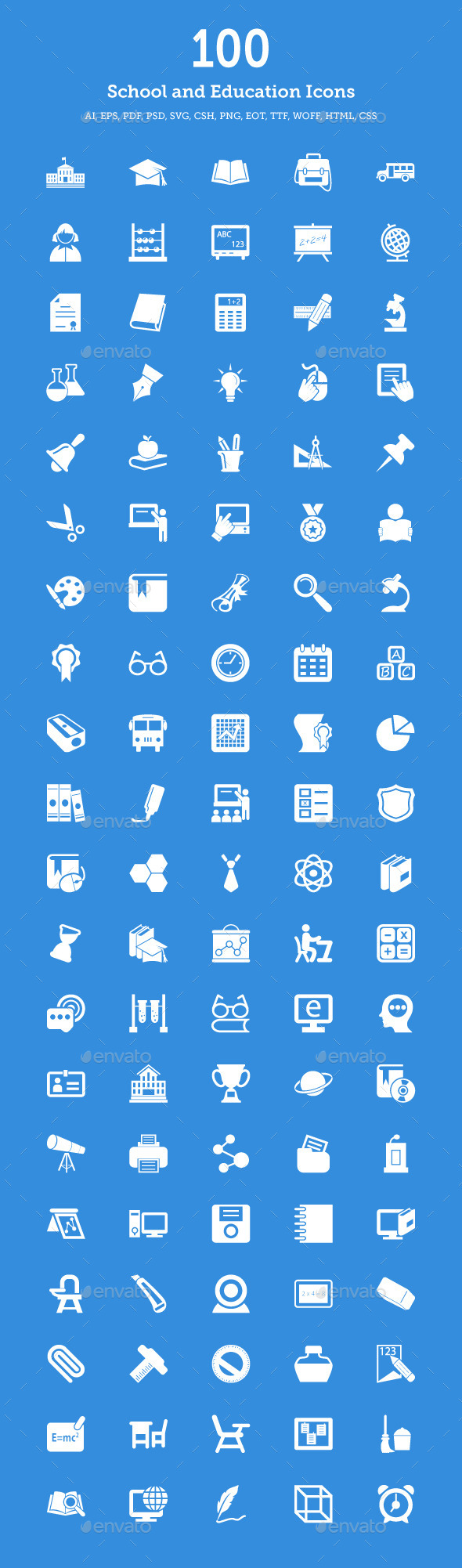 GraphicRiver School and Education Vector Icons 9270123