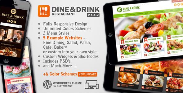 Dine & Drink - Restaurant WordPress Theme - Restaurants & Cafes Entertainment