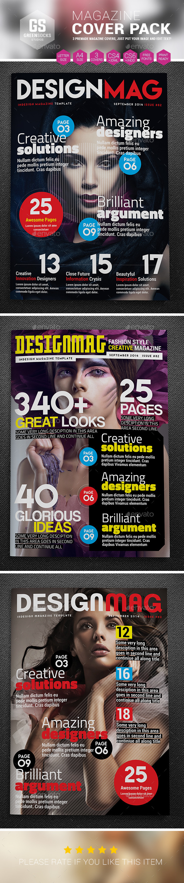 GraphicRiver Magazine Cover Templates 9270220