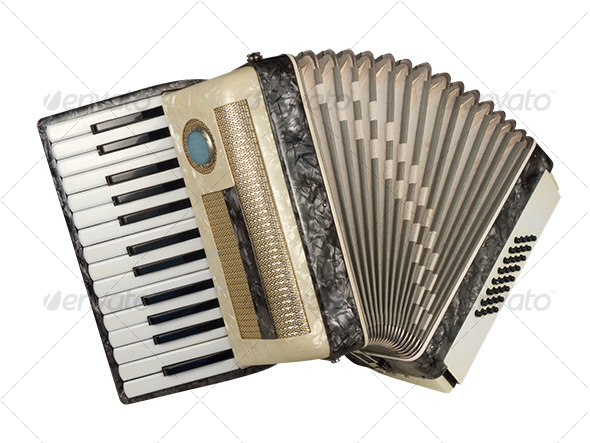 Piano Accordion - Activities & Leisure Isolated Objects