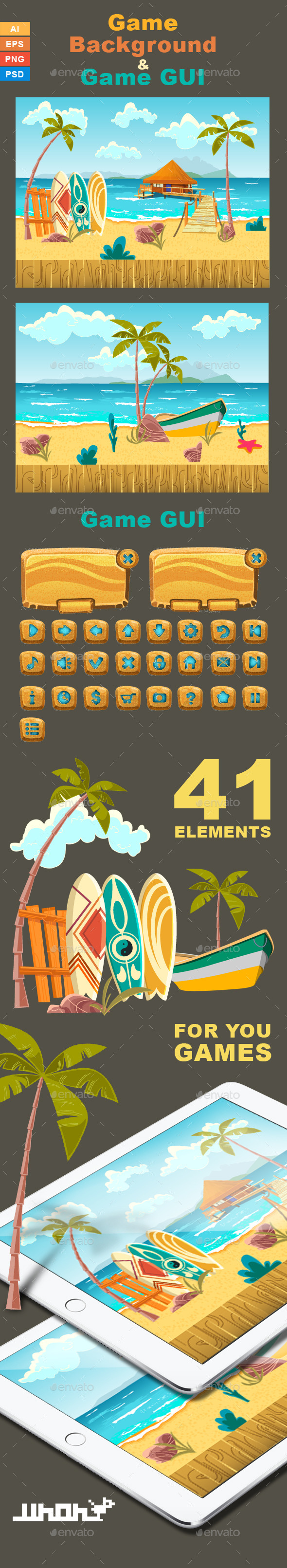 GraphicRiver Game Background Beach 9270318