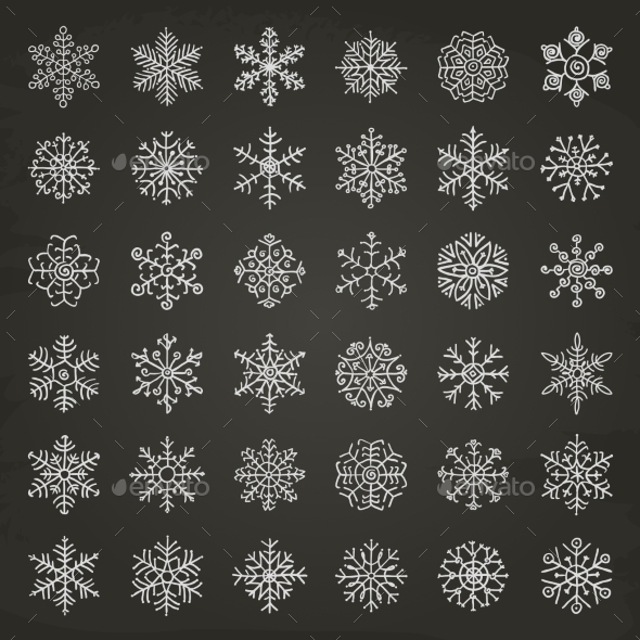 GraphicRiver Winter Snowflakes 9270320