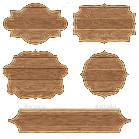 GraphicRiver Retro Wooden Frames 9270367