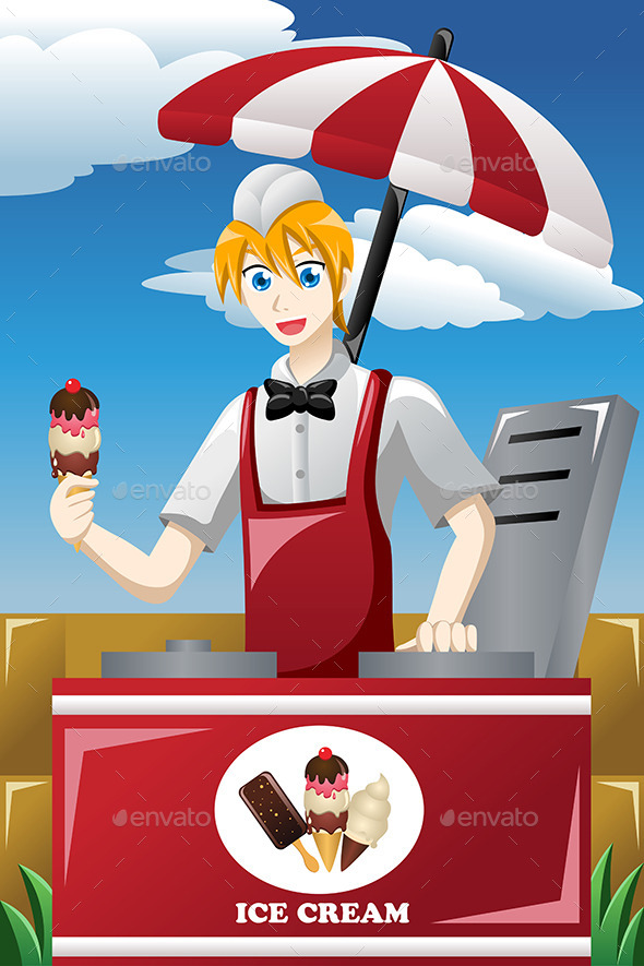 GraphicRiver Man Selling Ice Cream 9270377