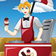Man Selling Ice Cream - GraphicRiver Item for Sale