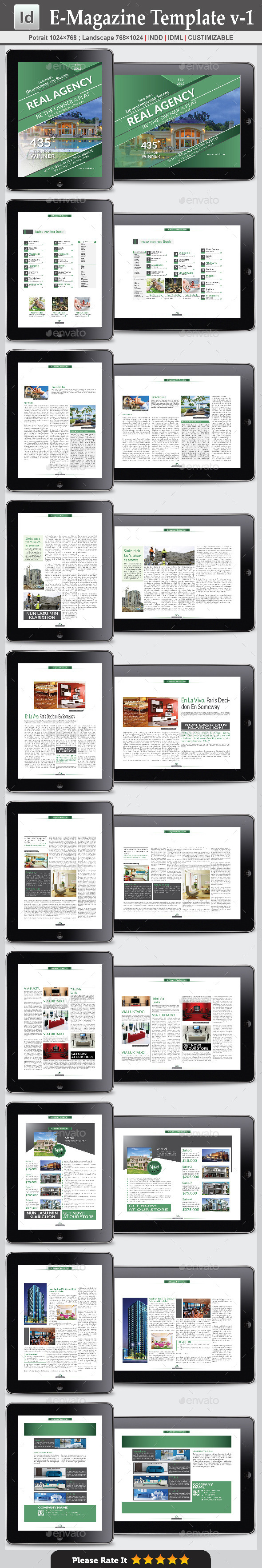 GraphicRiver E-Magazine Template v-1 9270381