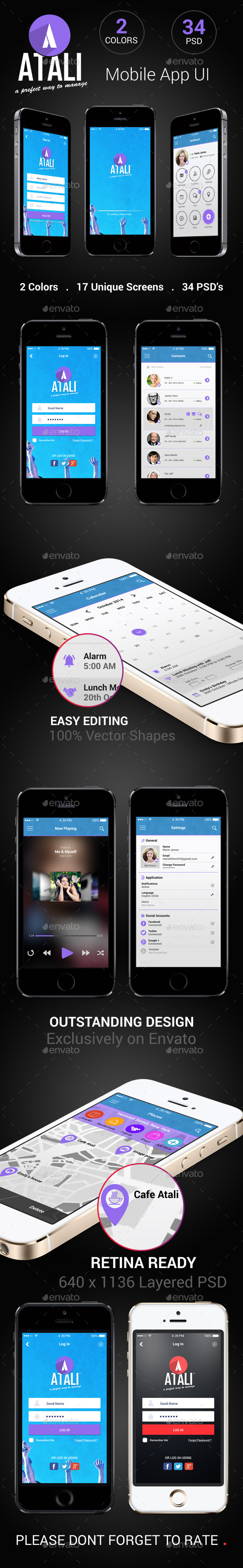 GraphicRiver Atali Mobile App UI 9225658
