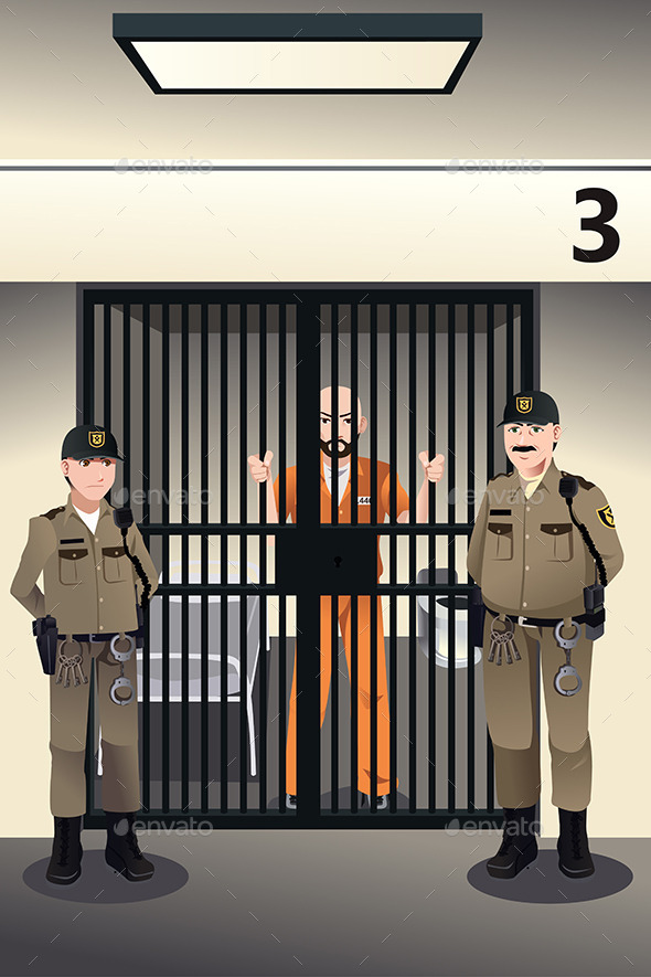 GraphicRiver Prisoner in the Jail 9270532
