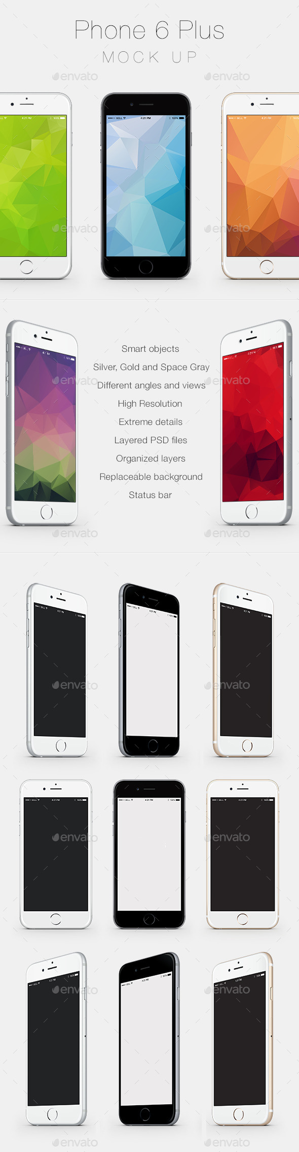 GraphicRiver Phone 6 Plus Mock Up 9234418