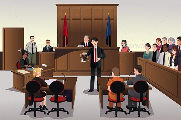GraphicRiver Court Scene 9270660