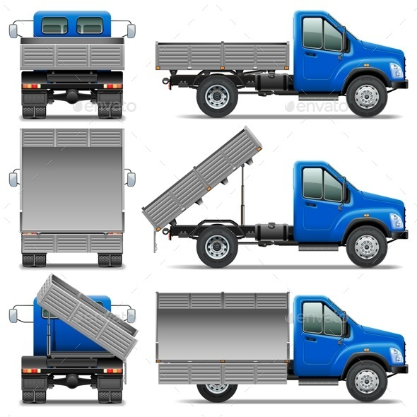 GraphicRiver Lorry Icons Set 4 9270686