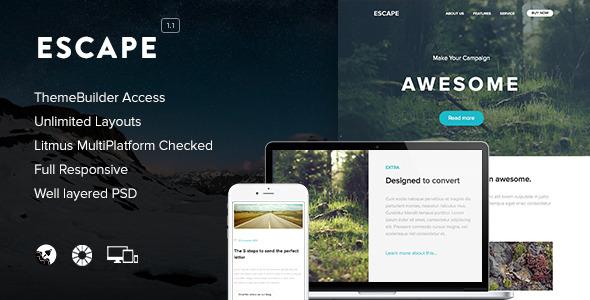 Escape - Responsive Email + Themebuilder Access