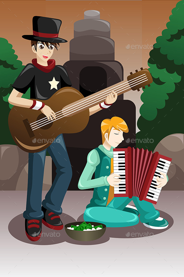 GraphicRiver Street Musicians Performing 9270699