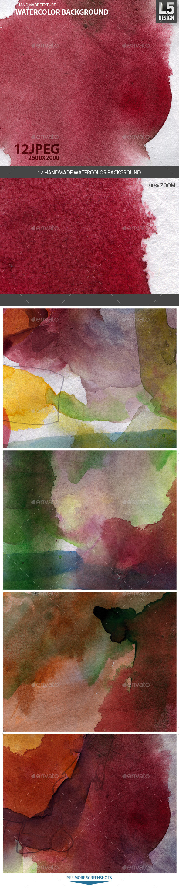 GraphicRiver 12 Watercolor Backgrounds 9271076
