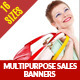 Multipurpose Sales Marketing Web Banners - GraphicRiver Item for Sale