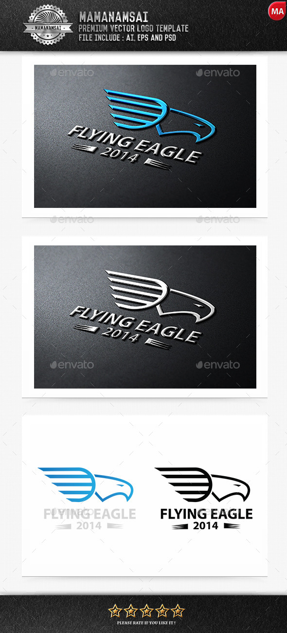 GraphicRiver Flying Eagle Logo 9271139