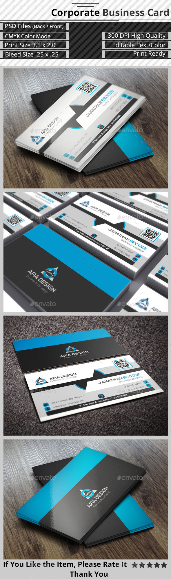 Clean & Creative Corporate Business Card