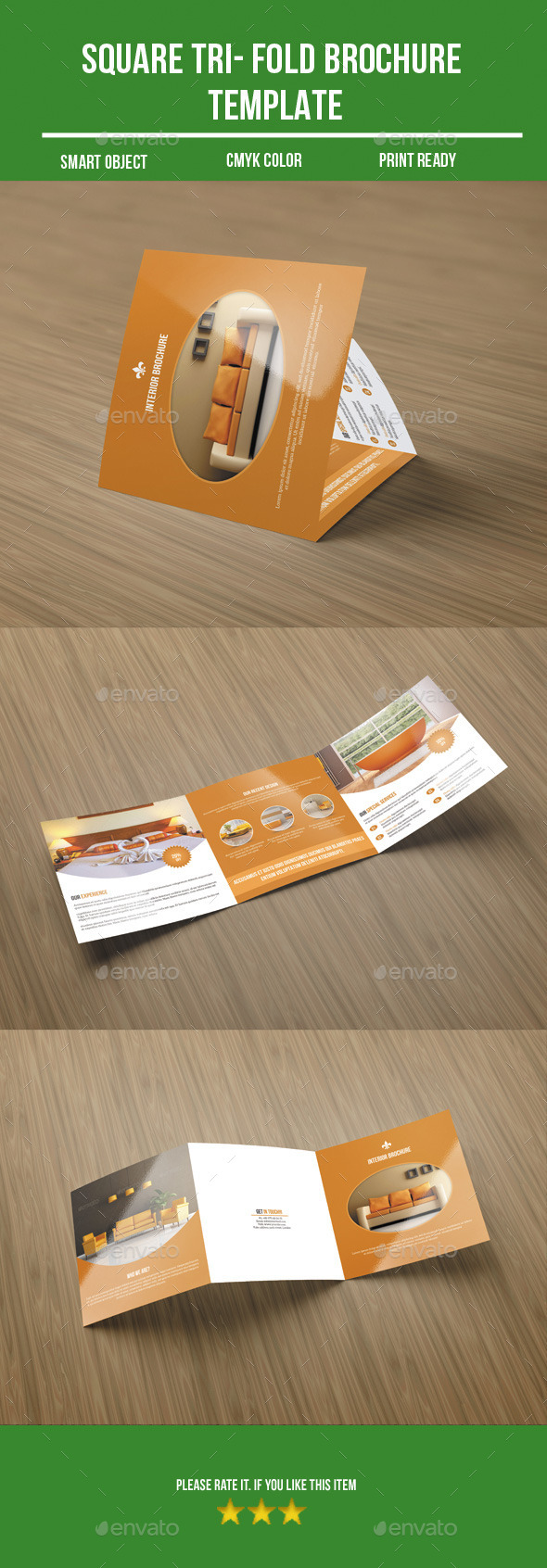 GraphicRiver Square Tri-Fold Interior Brochure 9225689