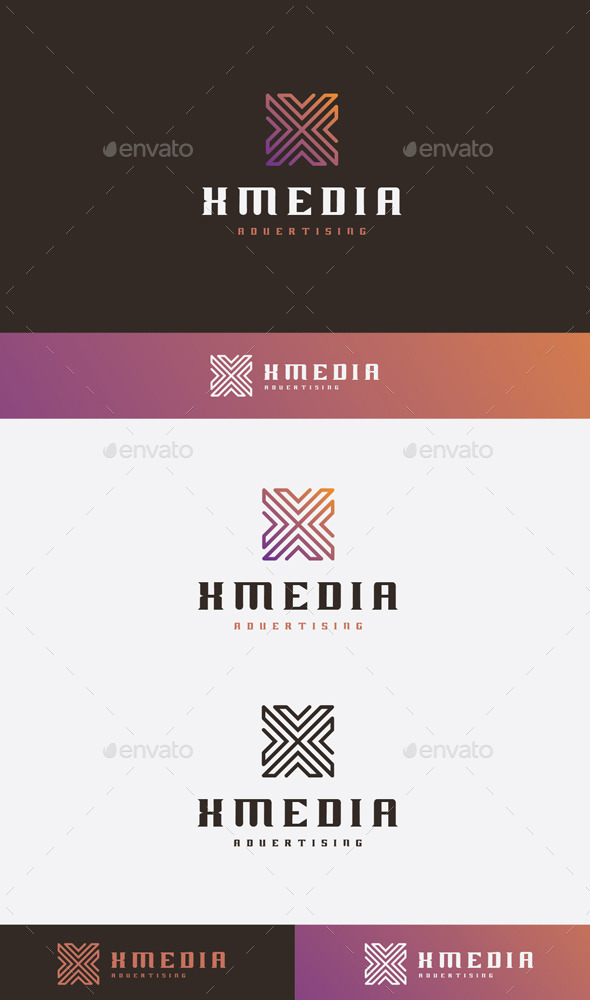 GraphicRiver X Media Logo 9271564