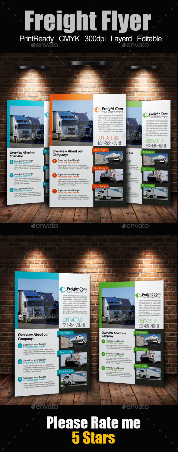 GraphicRiver A4 International Freight Flyer 9271592