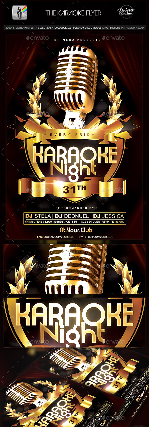 GraphicRiver The Karaoke Flyer 9271657