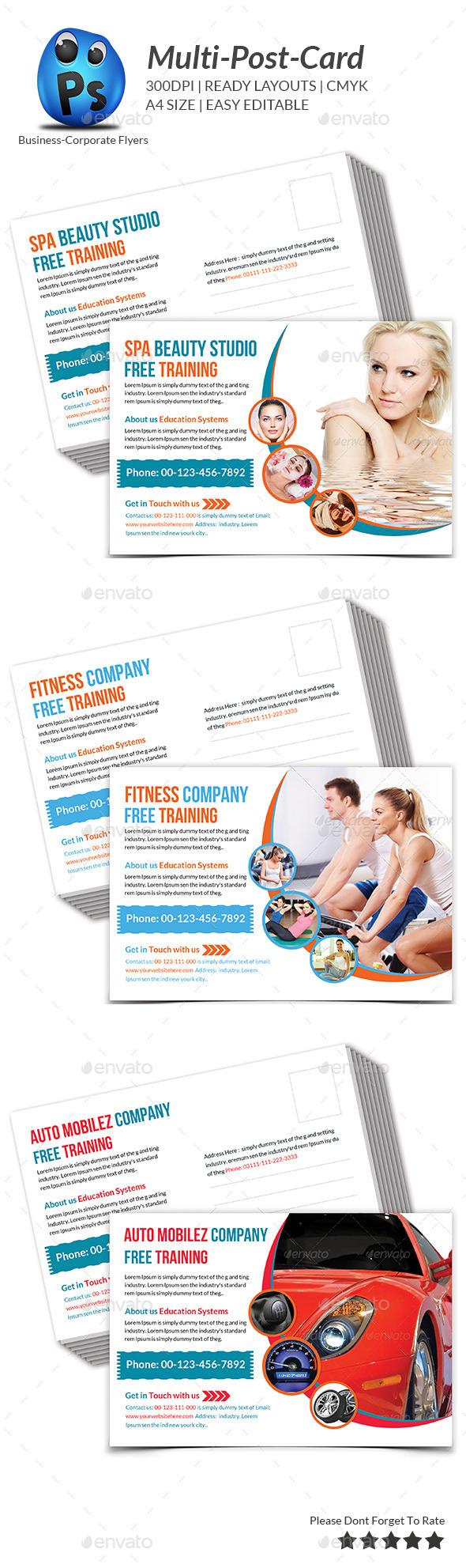 GraphicRiver Multipurpose Business Postcard Template 9272327