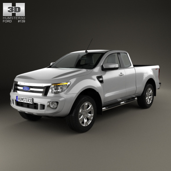 Ford Ranger Super Cab 2011 - 3DOcean Item for Sale