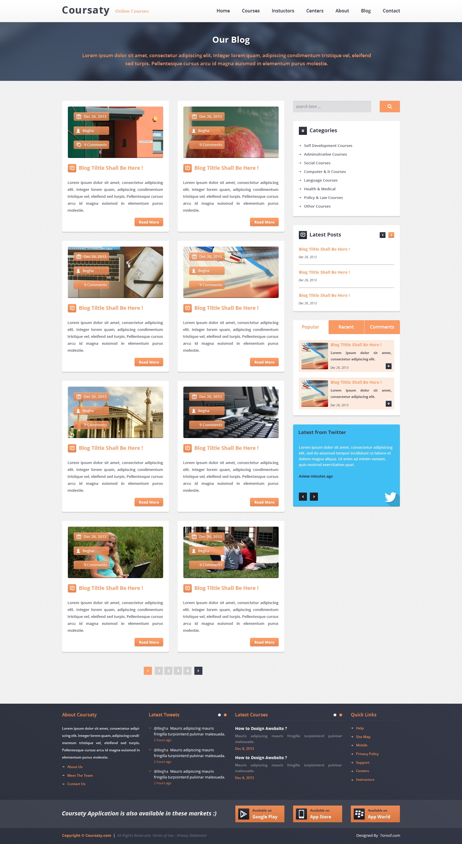 Coursaty - Awesome PSD Template