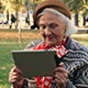 Old Woman with Tablet - VideoHive Item for Sale