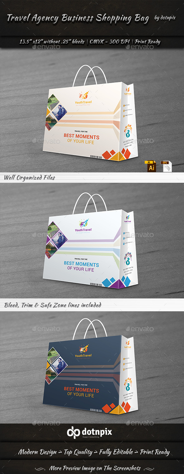 GraphicRiver Travel Business Shopping Bag 9272402