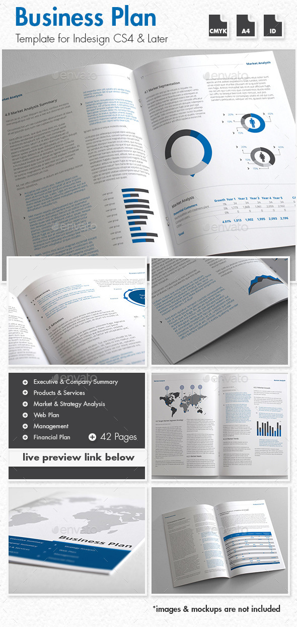 GraphicRiver Business Plan Template A4 Portrait 9221748