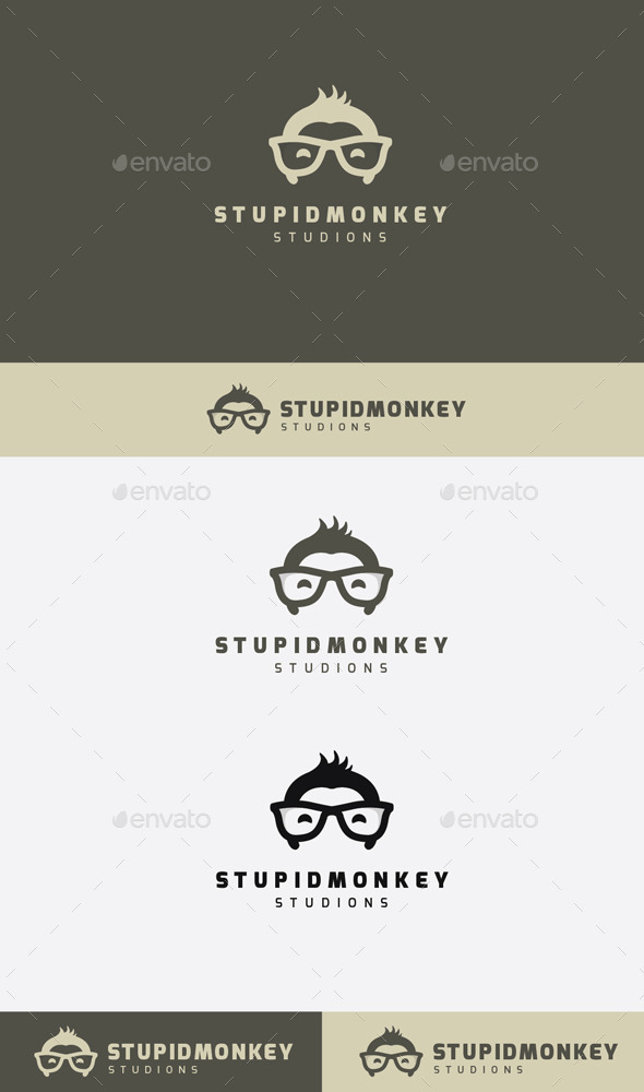 GraphicRiver Stupid Monkey Logo 9272487
