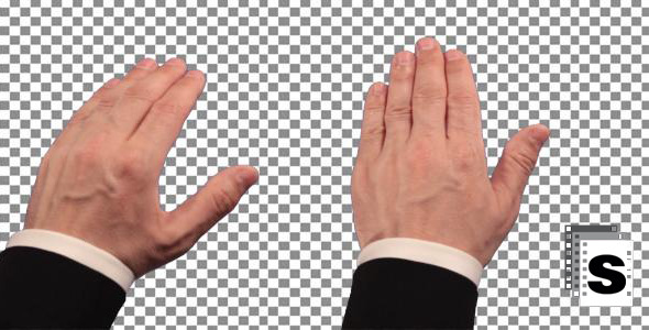 Touch Screen Hand Gestures Businessman